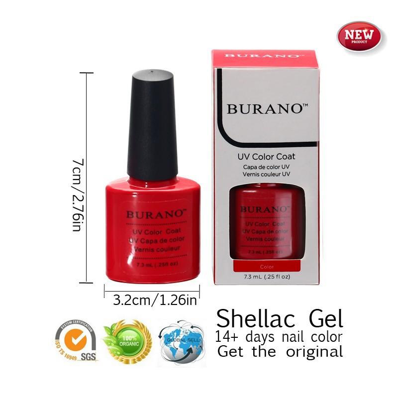 BURANO 2015 new arrival shellac one piece uv gel polish 7.3ml