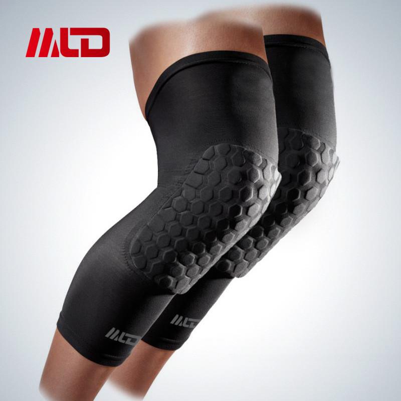 MLD Spandex Breathable Honeycomb Knee Pads Bumper Crashproof Football Basketball Leg Sleeve Sports kneepad brace Kneelet M/L/XL(China (Mainland))