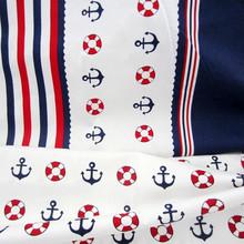 50*160cm 2 pcs marine Navy blue stripe/white anchor life buoy 100% cotton cloths DIY tilda patchwork textile chic fabrics(China (Mainland))