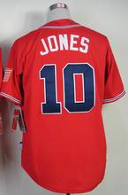 2016 New Arrival #10 Chipper Jones Jersey #5 Freddie Freeman Jersey 24 Deion Sanders 44 Hank Aaron Baseball Jerseys(China (Mainland))