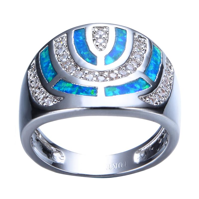 Black Crystal Opal Ring