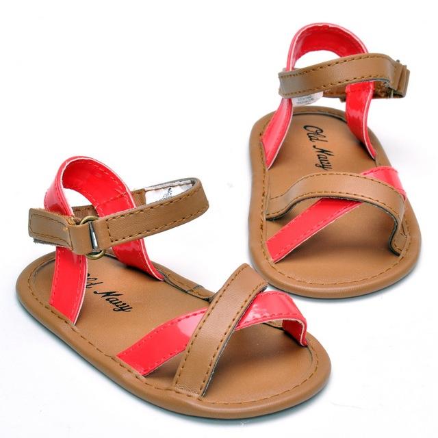 2016 летние мальчики девочки шпаргалки мягкой подошвой сандалии 0 - 18 месяцев