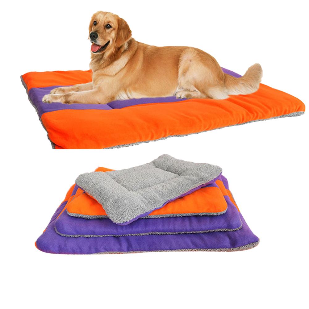 S-XL Soft Cotton Fleece Pet Dog Kennel Cat Puppy Bed Mat Pad Kennel Cushion E#CH(China (Mainland))