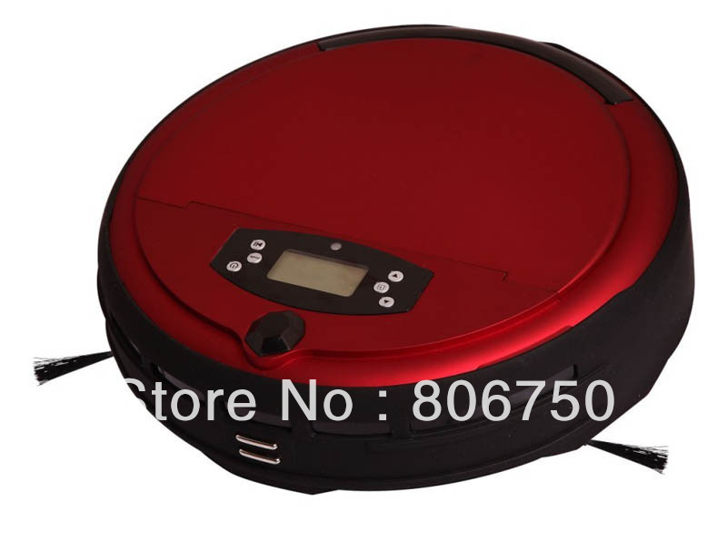 Free Shipping Voice Function/Wet Moping I Robot Vacuum Cleaner WithTime Setting,Multi-Modes Cleaning,2 Side Brush,0.7L Dustbin,(China (Mainland))