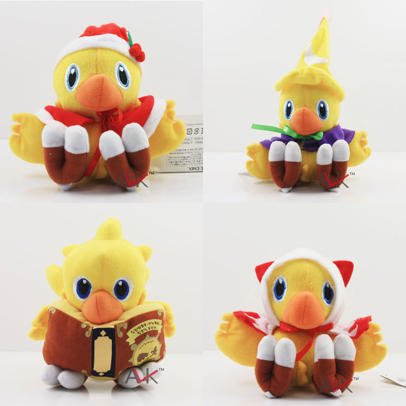 Anime Final Fantasy VII Chocobo Plush doll 13-17cm Soft Stuffed toy Plush kawaii Cute stuffed Animal toys for children gifts(China (Mainland))