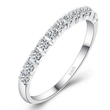 Свадьба кольца для женщины 925 чистое серебро фиолетовый красный имитация алмаз кольцо ...