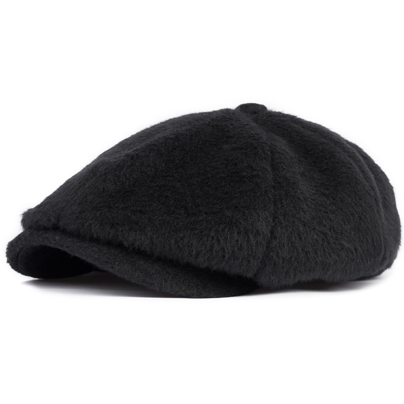Fashion octagonal cap sheep plush hat newsboy male beret cap spring and autumn winter mao hats solid woolen cap(China (Mainland))