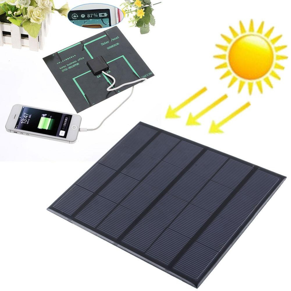 6v 3.5w 580-600MA Solar Panel USB sockets Travel Battery Charger high efficiency output For Cell Phone MP3 MP4 PDA Tablet