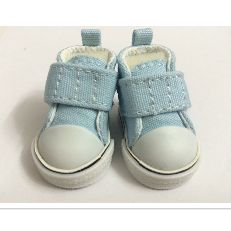 5 CM Causal Canvas Shoes BJD Doll Shoes for Dolls,Mini Toy Boots BJD Snickers Shoes for Tilda Dolls Accessories 100 Pair/Lot(China (Mainland))