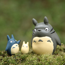 A Set Miyazaki Animation Model Standing Totoro Action Resin Figure Cute Mini Gift For Kid Friend Gift Garden Ornament