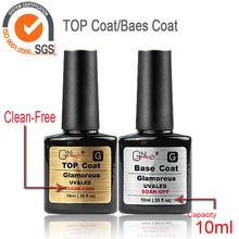 Nail Gel Polish Nail Color UV base top coat Gel Polish 10ml 2pcs Nail Gel for Nail soak off gel polish