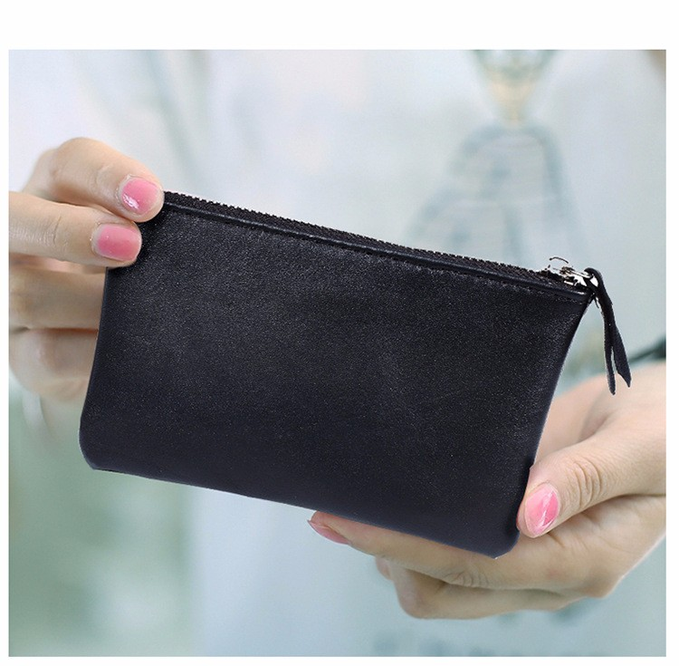 genuine leather wallet purse women coin (6)