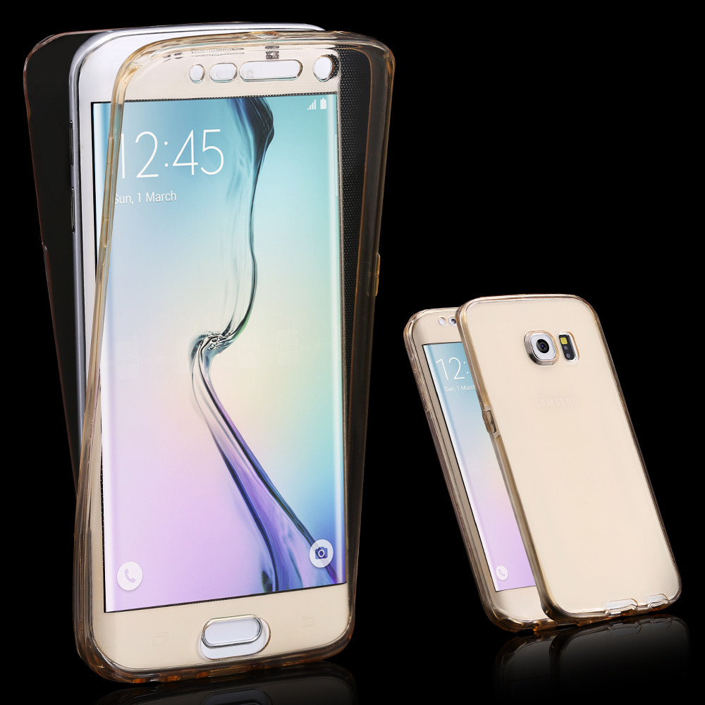 S6 Edge Soft TPU Transparent 360 Full Case For Samsung ...