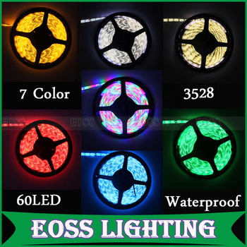 Freeshipping high quality waterproof SMD 3528 green/yellow/blue/warm white/ red led strip 300 LEDs per 5 meters