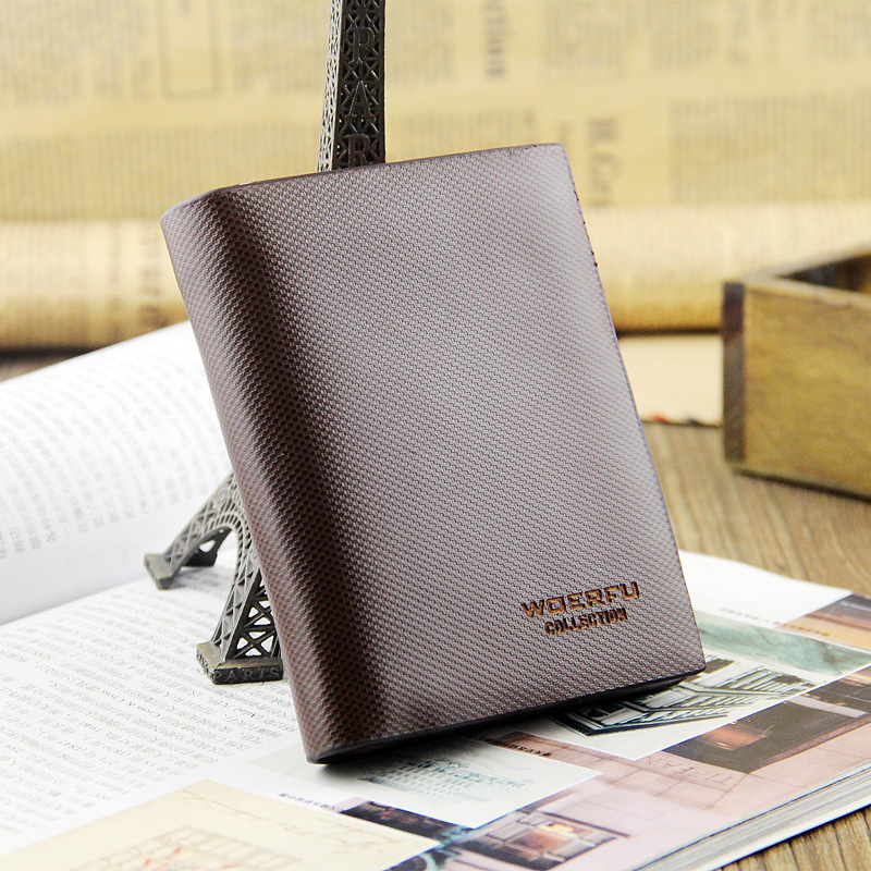 Brown short mens wallet leather genuine male wallet Business men wallet portafoglio uomo man wallets purses 2015(China (Mainland))