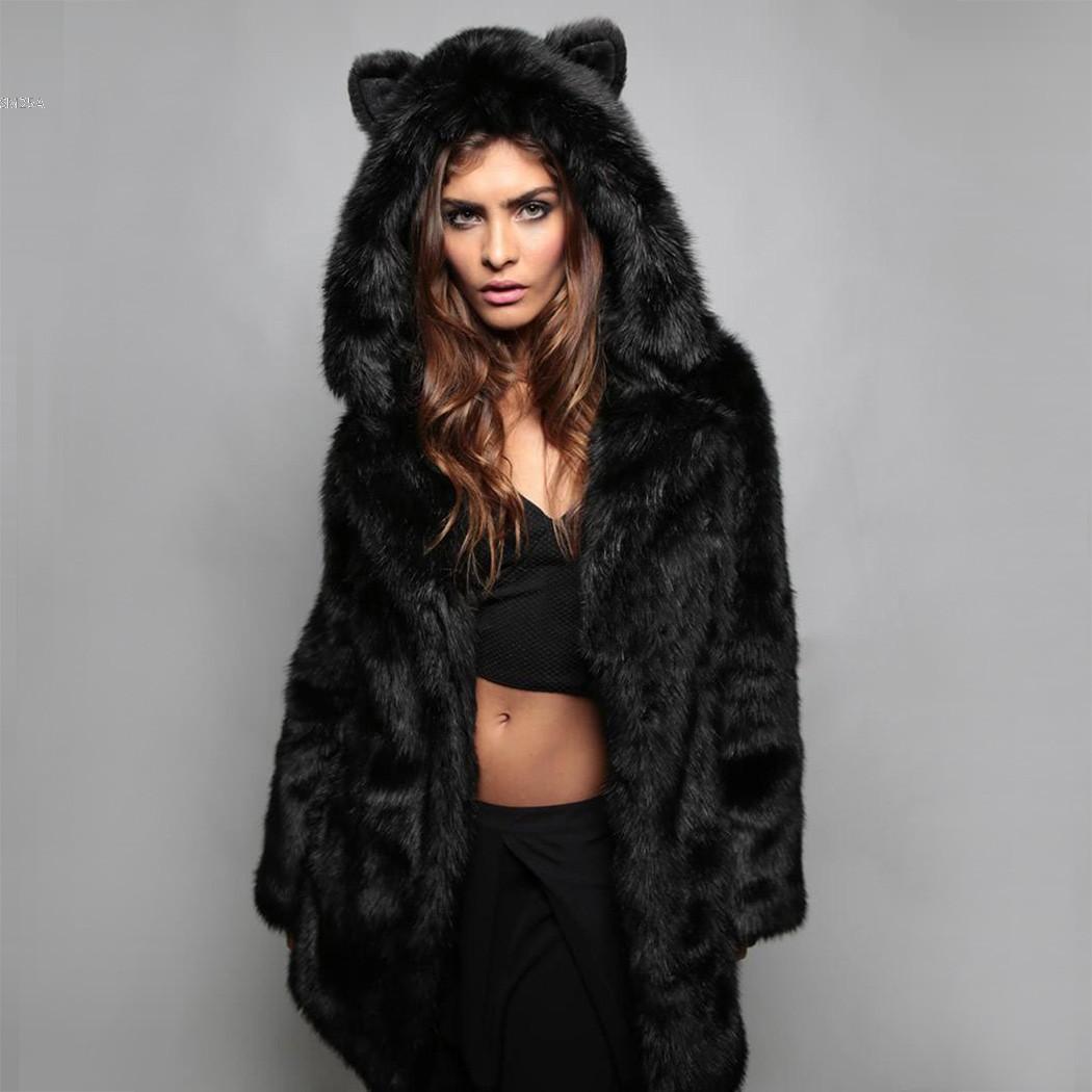 Brown faux fur coat - ChinaPrices.net