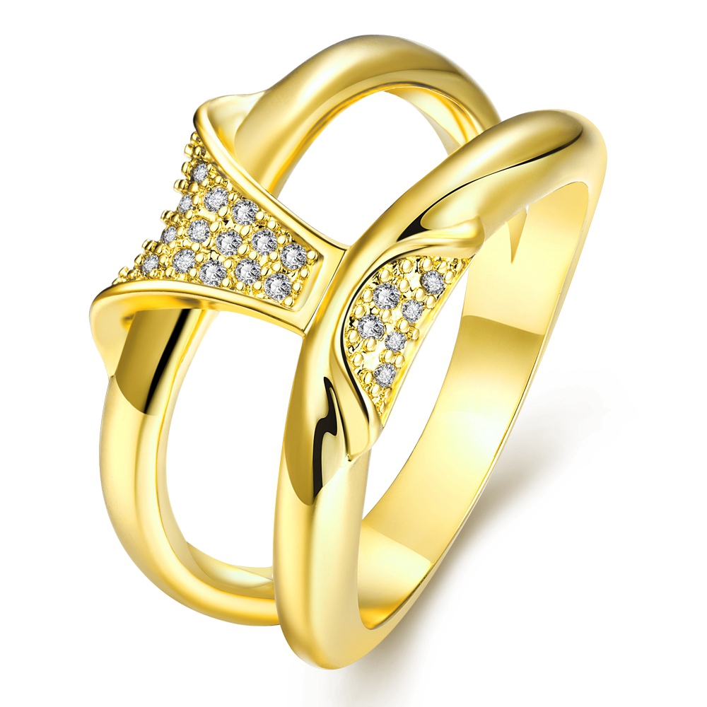 New African Gold Plated Austrian Crystal Zircon Jewelry For Women Fashion CZ Diamond Casual Party Jewellery Rings Bague Gifts(China (Mainland))