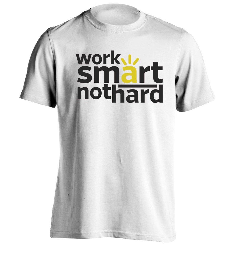 Work smart! - Mens Custom T Shirt Printing Tee(China (Mainland))