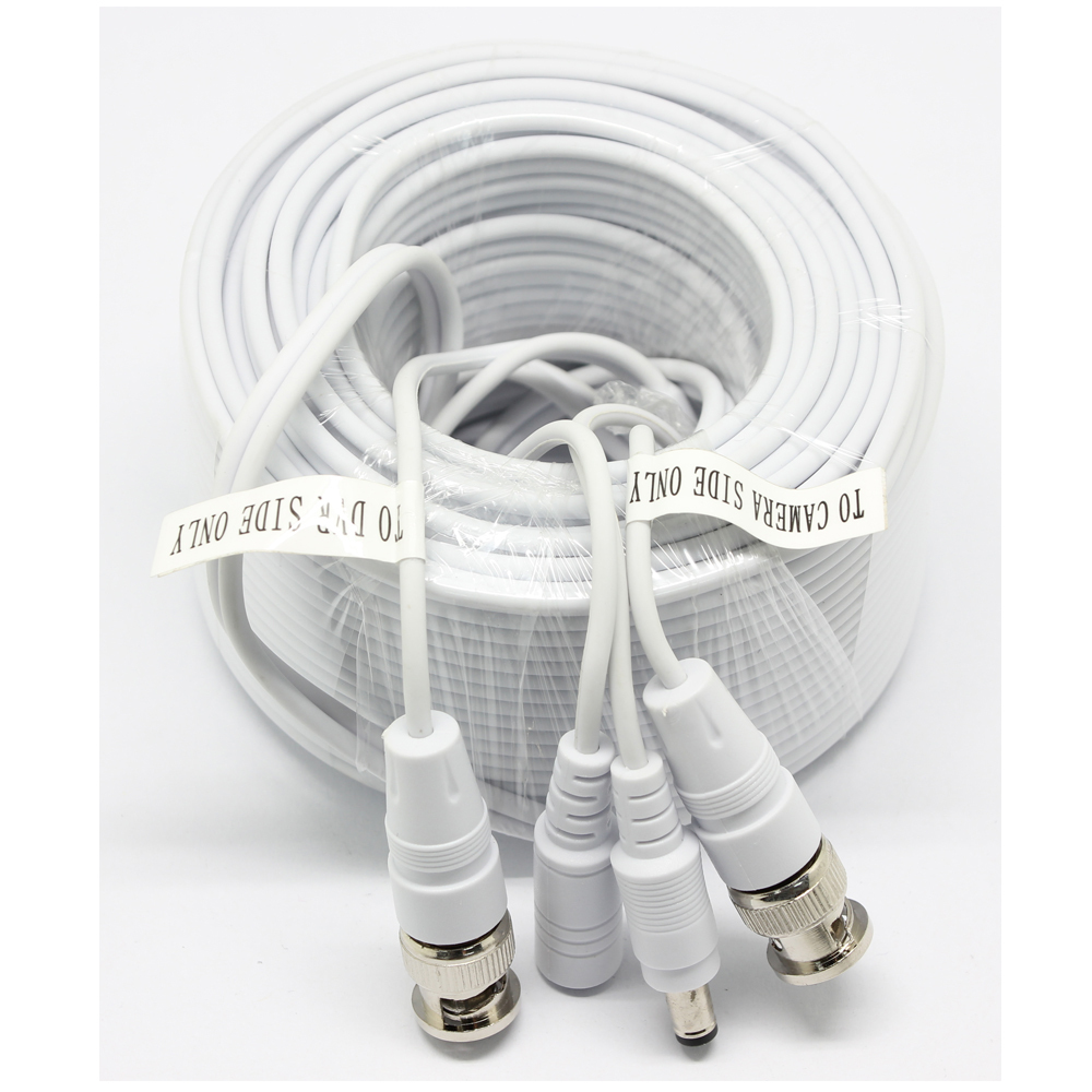 SUNCHAN NEW CCTV Cable with BNC + DC for CCTV Camera Cable and DVRs, BNC coaxial Cable 60FT(China (Mainland))