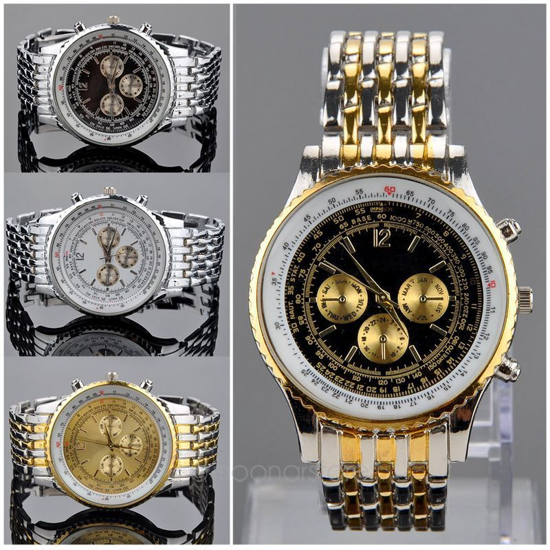 Люксового бренда мужчин часы кварца людей мужчины бизнес часы свободного покроя полная сталь мужчины часы горячая распродажа Relogio FYMPJ597 * 50