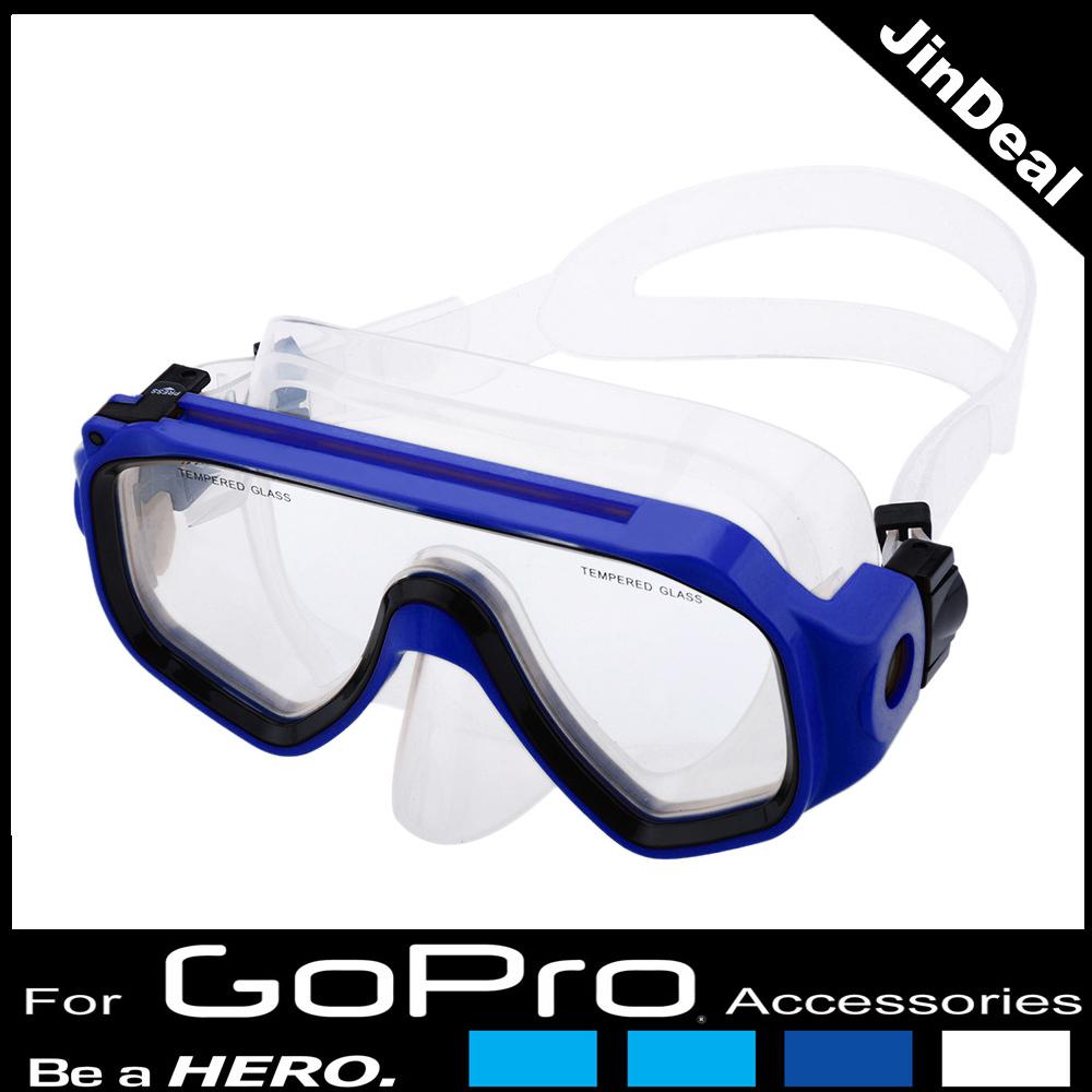 Scuba Dive Swimming Glasses Diving Mask Underwater Sea for GoPro Hero 4 3+ 3 2 1 Sjcam Sport Camera Mount(China (Mainland))
