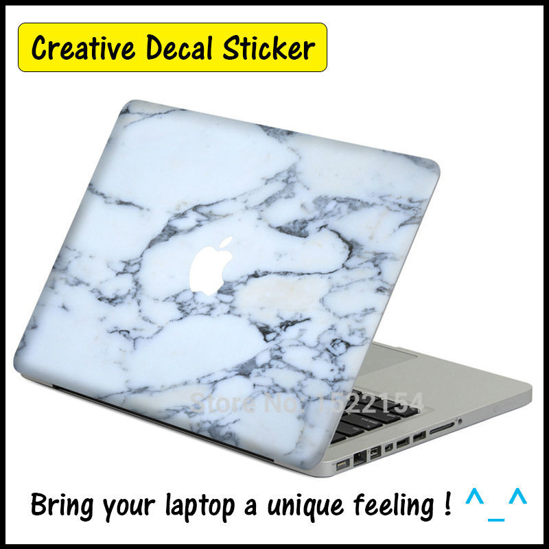 Marble Grain Vinyl Sticker For Apple MacBook Air Pro Retina 11 13 15 inch Decal of Mac Laptop Case Body Full Cover Skin Sticker(China (Mainland))