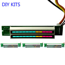 Buy Mini Dual 12 Level indicator VU Meter Stereo Amplifier Board Adjustable light Speed Board AGC Mode Diy KITS for $8.59 in AliExpress store