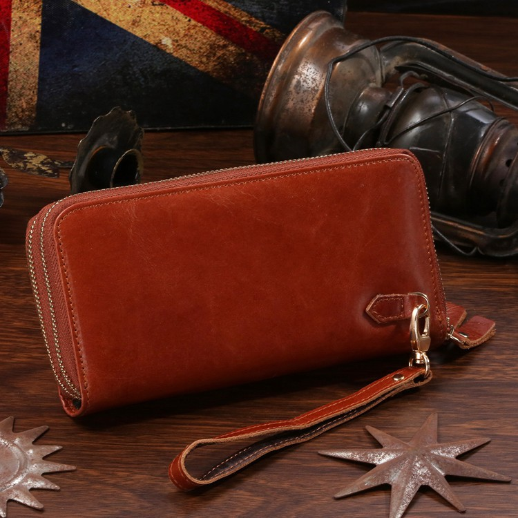 J.M.D New Arrival Hot Sale Soft Genuine Leather Unisex Solid Brown Clutch Bags Carteiras Wallet Free Shipping # 8026B<br><br>Aliexpress