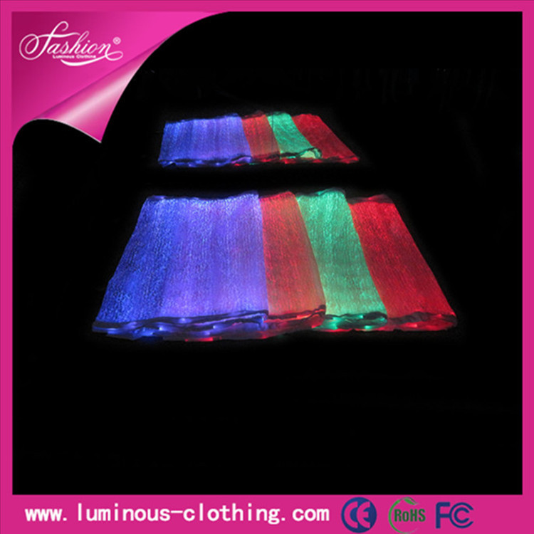 Electrically conductive carbon fiber optics fabric with LED YQ-100(China (Mainland))