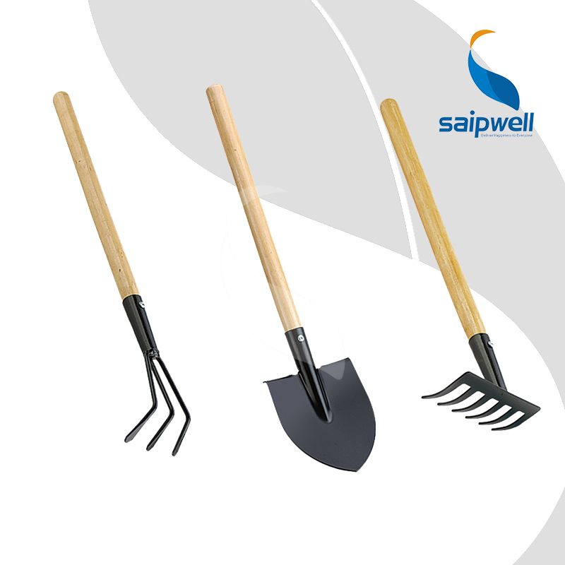 Garden tools kit includes grass leaf rake and spade shovel for Spade rake garden tools