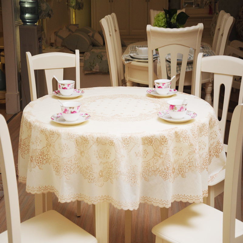 180x180cm printing lace tablecloth pvc round tablecloth. Black Bedroom Furniture Sets. Home Design Ideas