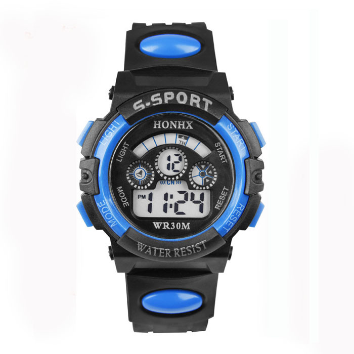2015 Hot Sale Classic Waterproof Watch Girls Boy Digital LED Watch Quartz Alarm Date Sports Wrist Watch Low Price Lucky reloj(China (Mainland))