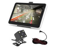7 inch Car GPS Navigation Bluetooth AV-IN Reverse Camera Map 4 LED Night Vision CCD Car Rear View Camera Parking Monitor