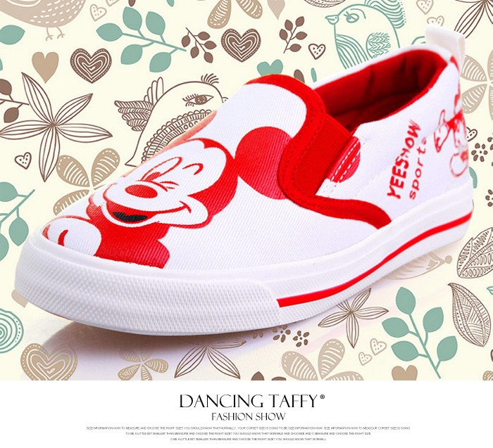 2016 New Spring Cartoon Children Shoes Brand Canvas Rubber Boys Girls Sneakers Comfortable Slip On Kids Shoes Child Footwear 427 (1)