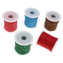 Buy 19 colors 1mm 100yards Waxed thread bracelets string cotton spool rope hand made jewelry making diy necklace cord black mint for $1.47 in AliExpress store