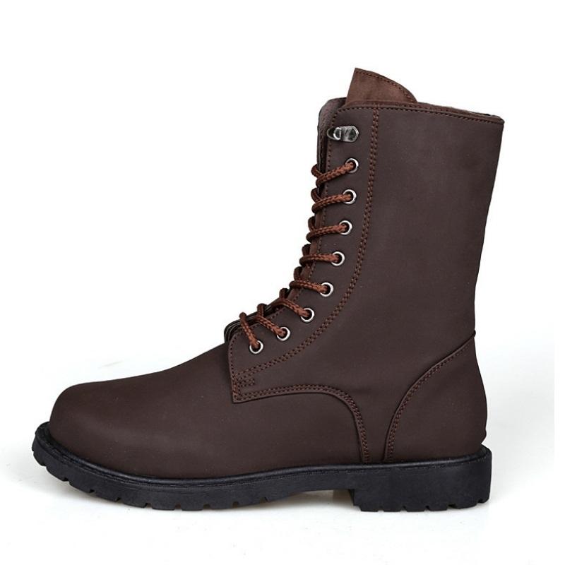 Гаджет  Two Colors Retro Combat boots Winter England-style fashionable Riding boots Men