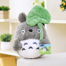 lovely plush toy, my neighbor totoro plush toy cute soft doll totoro with lotus leaf kids toys Cat 25cm(China (Mainland))