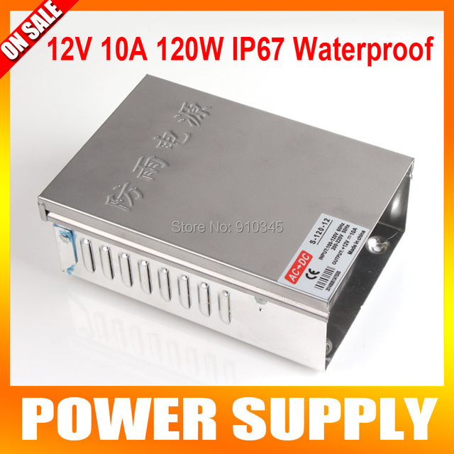 12V 10A 120W Waterproof IP67 Wall Switch CCTV Power Supply Transformer LED CCTV Camera DVR Security AC 100V-220V Input