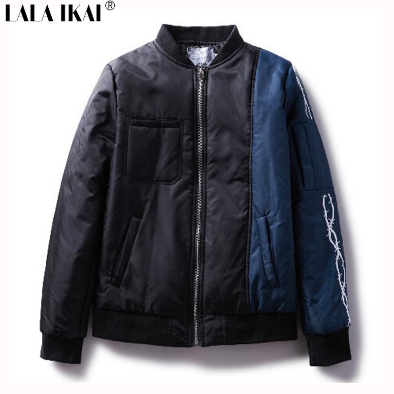 Patchwork Color Thick Winter Coat Men Trend Hip Hop Soft Shell Windbreakers Men Jackets MA1 Bomber Jacket Men Brand SMC0235-4.5