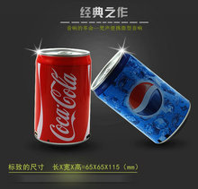 Newest coke Speaker Portable Cans Speaker Good Quality with card slot with USB interface Hot sales Free shipping