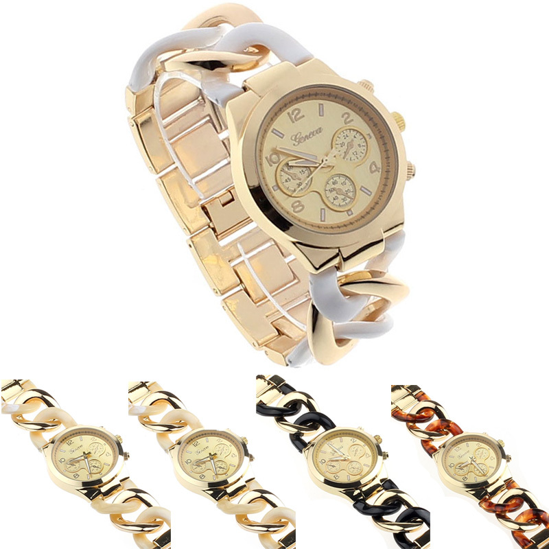 Yoner  est Brand Elegant Jeans Chain Stainless Steel Bracelet Watch GENEVA Watches Women Quartz Watches Relogio Feminino Clock<br><br>Aliexpress