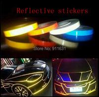 1.0CM x 3Meter DIY 3M Car motorcycle Reflective Sticker Bicycle Reflective Auto luminous strip  Decoration Sticker #A001C