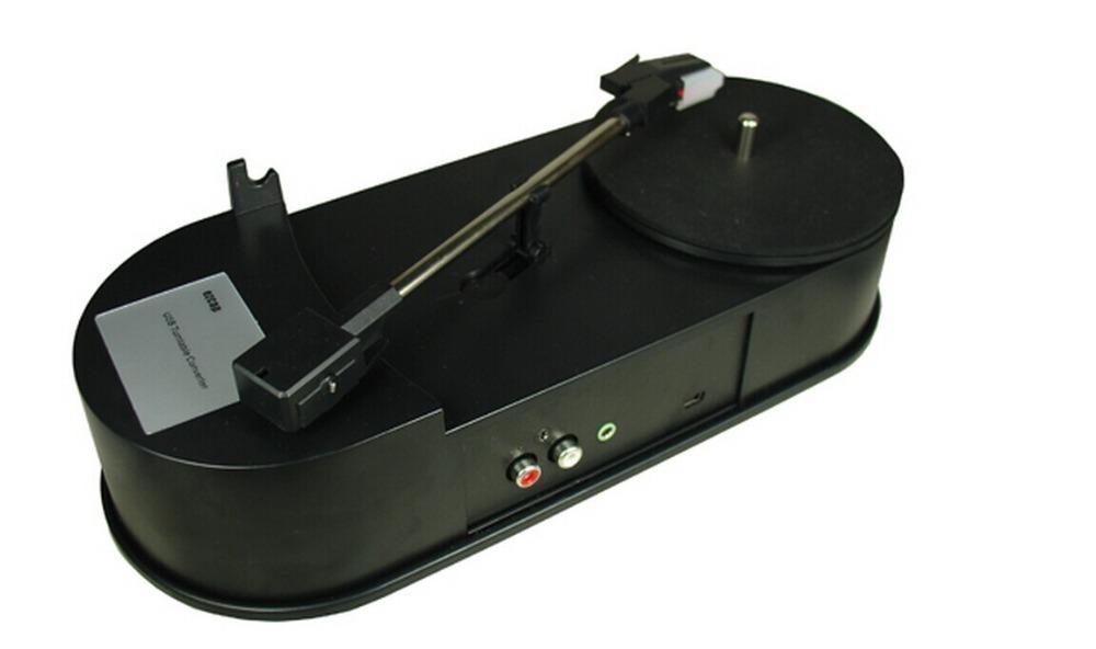 2015 New USB Portable Mini Vinyl Turntable Audio Player Vinyl Turntable to MP3/WAV/CD Converter 33RPM EC260-PC(China (Mainland))