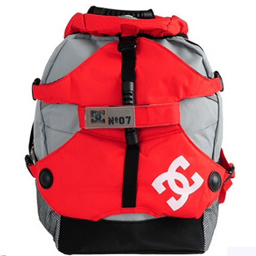 Red color daypack DC nylon day pack Quality rucksack roller Skating sport backpack(China (Mainland))
