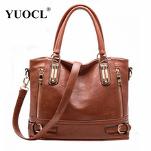 Buy Hot sale 2017 Fashion Designer Brand Women Pu Leather Handbags ladies Shoulder bags tote Bag female Retro Vintage Messenger Bag for $23.87 in AliExpress store