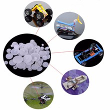 Buy 80Pcs Plastic DIY Robot Gear Set Single Double Layer Crown Shaft Axle Sleeve Set Rc Model for $3.96 in AliExpress store