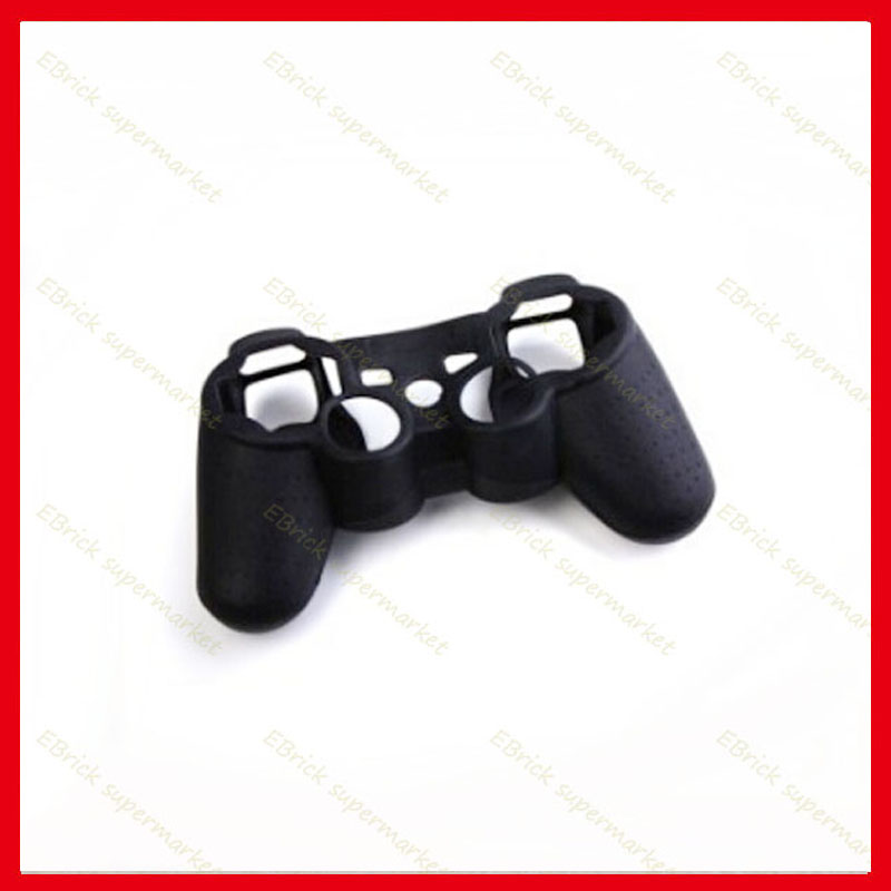 50pcs Black Silicone Case Protective Skin Case Cover For ps3 ps2 Controller(China (Mainland))