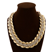 Brand Design Fashion Necklace Charm Chain Statement Bib Necklace Choker Gold Plated Necklaces Jewelry For Women SNE150615
