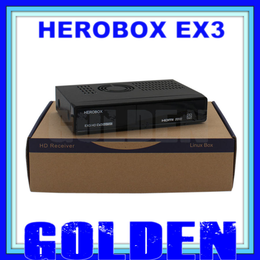 20pcs herobox ex3 HD tv box support Media Player dvb s2+t2+c triple tuner ex3 HD satellite receiver 20pcs/lot(China (Mainland))