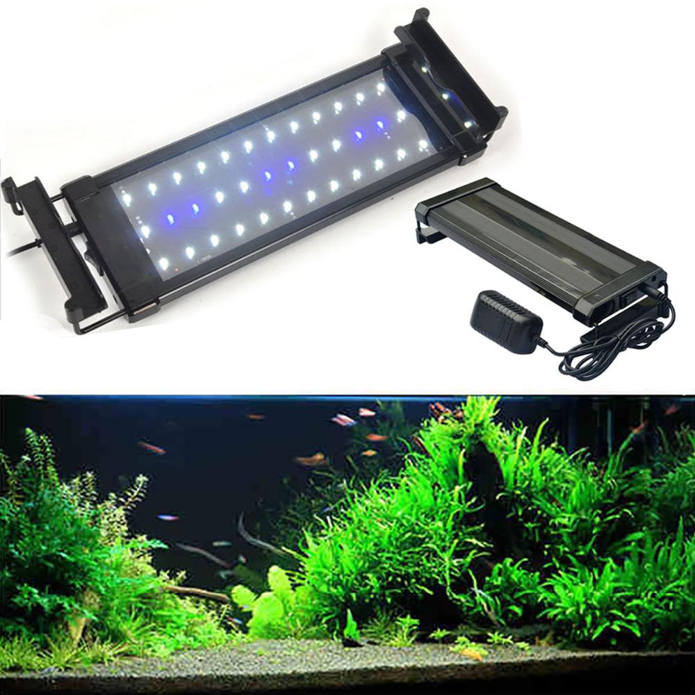 J&amp;W 6W Blue-White Light Can stretch bracket LED Aquarium light(110-240V,2pcs/lot)<br><br>Aliexpress